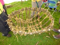 Coracle Building Course - Finished Frame - Overwater Boats