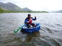 Coracle Building Course - Finished Coracle on Bassenthwaite Lake - Overwater Boats