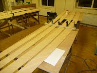 Canoe Building Course - Scarf Jointing Panels - Overwater Boats