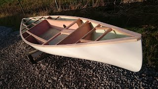 Sailing Canoe Building Course - Deck Beams & Bulkheads Installed