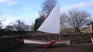 Sailing Canoe Building Course - Fulmar Sailing Canoe Rigged for Sailing
