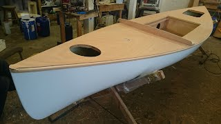 Sailing Canoe Building Course - Decks Fitted