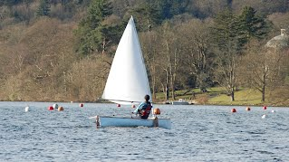 Sailing Canoe Building Course - Fulmar Sailing Canoe on the Water