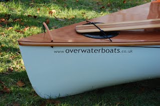 Canoe Building Course - Bow of Fulmar Sailing Canoe